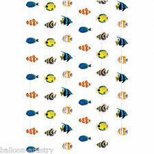 6 Tropical Under the Sea Marine Fish 7ft Hanging String Decorations