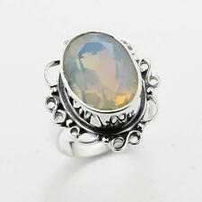 FIRE OPALITE .925 SILVER RING SIZE 7 ;S9778