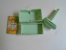 Vintage Retro Collectable Mint Green Ladies Nypmh Safety Razor + Box + Blade