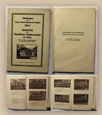 Pistor Geschichte der staatlichen Optikerschule Jena 1927 Ortskunde Sachsen xy