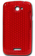 New Design HTC One X Silicone Gel Diamond Case - Red