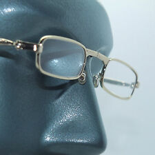 Folding Reading Glasses Petite Small Gold Frame Lightweight Lens Strength +3.50