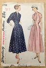 Vintage 1940s 1950s SIMPLICITY Women Sewing Pattern 2798 One-Piece Dress B32