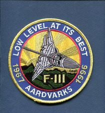 GENERAL DYNAMICS GRUMMAN F-111 AARDVARK USAF LOW LEVEL AT BEST Squadron Patch