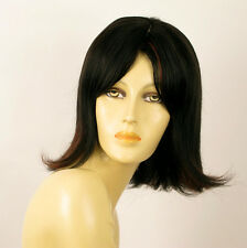 wig for women 100% natural hair black and red wick ref  MATHILDE 1b410 PERUK