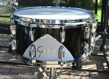 "GRETSCH RENOWN '57 MOTOR CITY BLACK 14"" SNARE DRUM for YOUR DRUM SET! LOT #H996"
