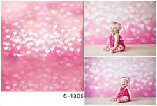 8x8ft Vinyl Photography Backgrounds Heart Baby Birthday Backdrops Studio Props