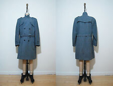 Vintage mens Dunn & Co gray belted double breasted jacket coat