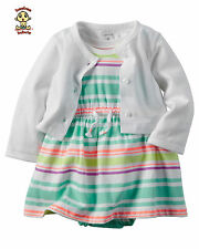 Carter's Dress and Cardigan Set 9 months Authentic and Brand New