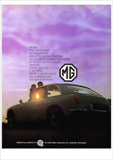 MG MGBGT 1967 MGB GT RETRO POSTER A3 PRINT FROM CLASSIC ADVERT