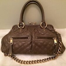 Marc JACOBS BORSA DA DONNA Stam BAG Quilted Pelle Trapunta Camouflage Marrone IT piece NP € 1150