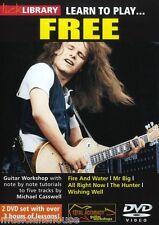 LICK LIBRARY Learn To Play FREE Paul Kossoff ALL RIGHT NOW Rock TUTOR GUITAR DVD