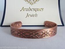 ARABESQUES TOP QUALITY Mens L/XL Celtic sword copper magnetic bangle/torque AJMB