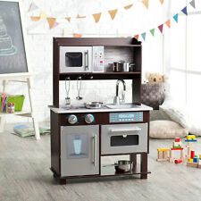KidKraft Espresso Play Kitchen Refrigerator  Kids Pretend Play Set Wood
