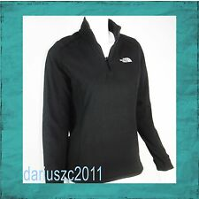 THE NORTH FACE WOMEN'S SIZE L 100 FLEECE GLACIER 1/4 ZIP PULLOVER BLACK JACKET