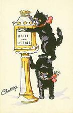 CATS, CHATS, KATZEN, MAILING A LETTER, FROM FRENCH POSTCARD, MAGNET