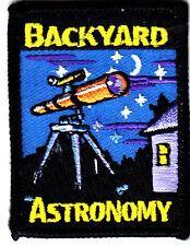 """""""BACKYARD ASTRONOMY"""" - Iron On Embroidered Applique Patch/School, Learning"""