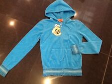 """NWT Juicy Couture New & Gen. Ladies Small Blue Towelling Hoody With """"J"""" Pull"""