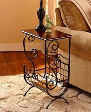 Small End Table With Storage Sofa Accent Side Magazine Rack Bedroom Plant Indoor