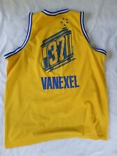 VANEXEL The City Nike yellow blue retro old school uniform jersey shirt XXL +2
