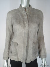 NWT EILEEN FISHER PS Beige Linen Jacket Button Front Shirt EUC Petite Small NEW