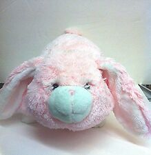 """PINK Bunny Pillow Pets 19"""" Large Stuffed Plush Animal By ZooPurr Pet"""