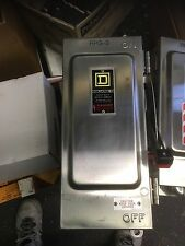 Square D Safety Switch HU361DS 30A 600V Stainless Steel