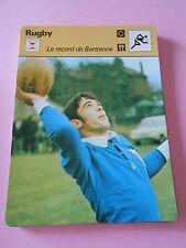 Rugby Le Record de Bertranne Fiche Card 1978