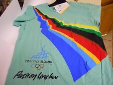 "New Torino Italy 2006 Olympics Green T-Shirt ""Passion Lives Here""  MEDIUM"
