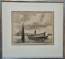 "Gordon Grant ( American, 1875-1962) Signed Lithograph 11-3/8""x8-7/8"" NO GLASS"