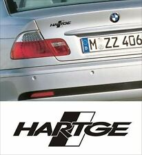 bmw hartge boot decal fit 1,3,5,6,7 series x3 x5