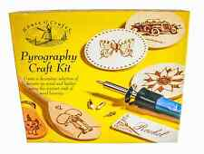 PYROGRAPHY WOOD & LEATHER BURNING KIT GIFT SET BY HOUSE OF CRAFTS INC IRON TOOL