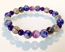 PEACEFUL SLEEP / INSOMNIA -BEADED GEMSTONE CRYSTAL HEALING BRACELET