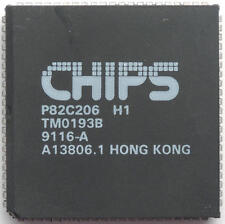 1 x P82C206 Integrated Peripherals Controller CHIPS PLCC-84 1pcs