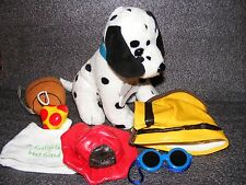NINTENDOGS DALMATIAN DOG DRESSABLE TOMY FIRE GUARD WITH CLOTHES AND TOYS