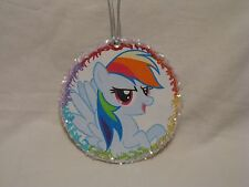My Little Pony FiM 'Rainbow Dash' Glitter Ornament - Beautiful Handmade Artwork!