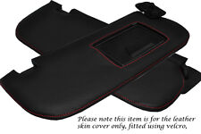 RED STITCH FITS HYUNDAI COUPE 02-08 2X SUN VISORS LEATHER COVERS ONLY