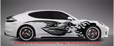 "FURIOUS FLAMING DRAGON SPEED SIDE DECALS STICKERS VINYL CAR TRUCK (60"" x 12"")"