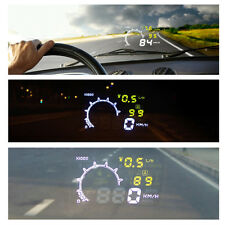 LCD Car HUD Head Up Display OBD2 Interface Plug/Play Digital Speed Warning