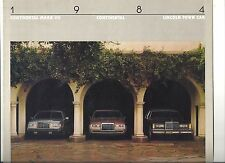 "1984 LINCOLN MARK VII CONTINENTAL TOWN CAR 6 PAGES BROCHURE ""NOS"""