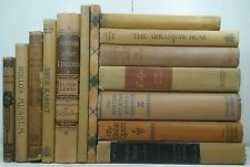 1855-1950-Antique Vintage YELLOW 14 Book Set~Old Decor Book Lot~LOWELL'S POEMS