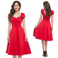 NEW CHEAP Vintage SHORT 50S RED Retro Swing Pinup Dresses Bridesmaid Ball Gown L