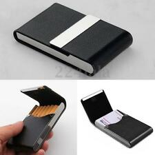 New Pocket Black PU Leather Name Business ID Card Storage ase Holder Waterproof