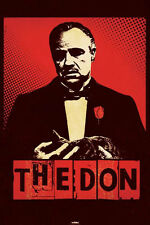 The godfather the don Poster! Cat red rose American crime film Oscar winning new