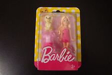 Barbie mini doll with dog doggy puppy toy and dress DTW45 DVT54