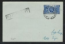 FIJI ISLANDS (P2912B) PAQEUBOT GB SILVER JUBILEE 2 1/2D FROM SUVA