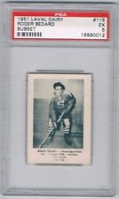 1952 Laval Dairy Subset Hockey Card Shawinigan Falls Gordie Hudson Graded PSA 5