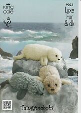 KING COLE 9023 BABY/REAL SEAL ORIGINAL KNITTING PATTERN - LUXE FUR - 2 SIZES