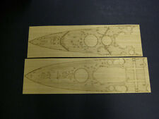 Pontos Model 1/350 HMS Prince of Wales Wooden Deck& Dry Transfer for Tamiya