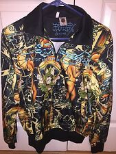 Women's Ed Hardy Christian Audigier Jacket Windbreaker M NWOT